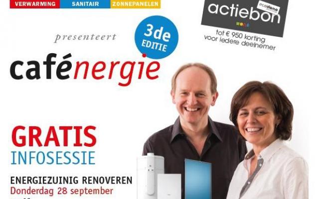 Nieuwe editie van Cafénergie op 28 september!