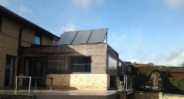 Een zonneboiler met leegloop vereist geen onderhoud