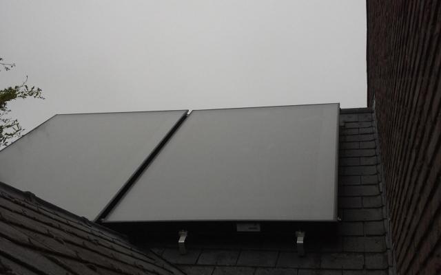 Bredene - zonnepanelen opbouw Bulex Helioset 250 L
