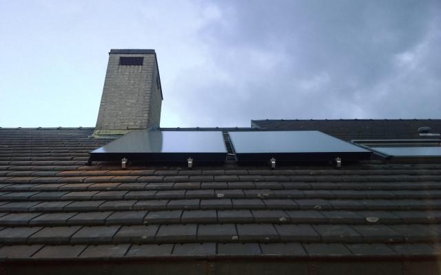 Lede - zonnepanelen  opbouw zonneboiler Bulex Helioset 250L