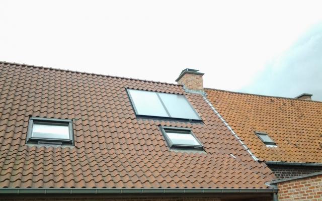 Ternat - zonnepanelen inbouw zonneboiler Bulex Helioset 250L