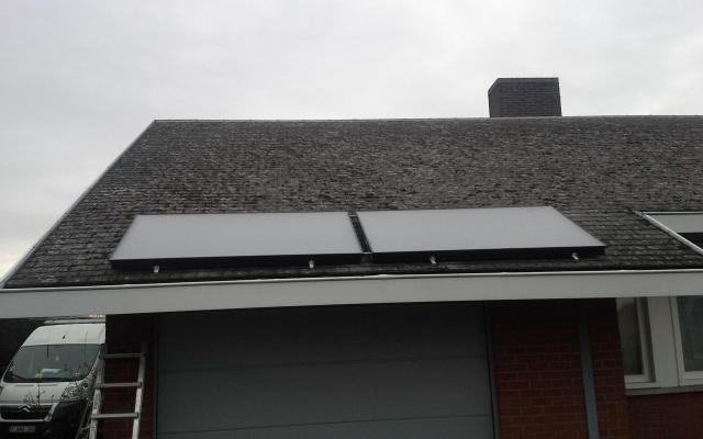 Zonnebeke - zonnecollectoren in combinatie met warmtepompboiler Bulex Magna